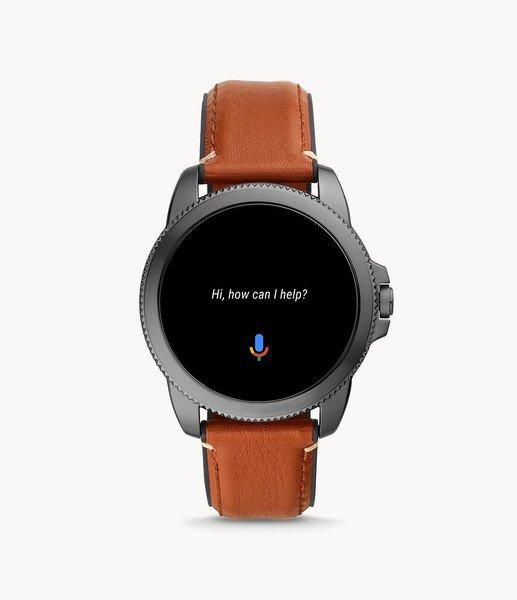 Smartwatch m%c4%99ski fossil 5 generacja najnowszy na pasku ftw4055 platnosci zblizeniowe nfc asystent google