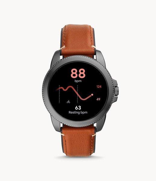 Smartwatch m%c4%99ski fossil 5 generacja najnowszy na pasku ftw4055 platnosci zblizeniowe nfc monitoring snu