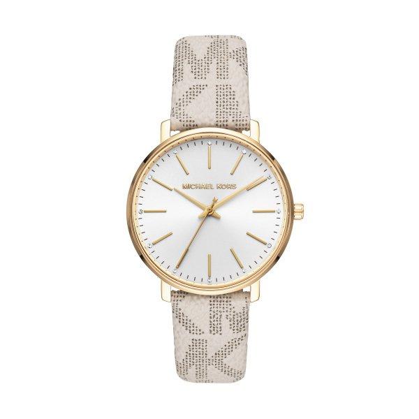 Michael kors monogram vanilla zegarek mk2858 pyoer z%c5%82oty