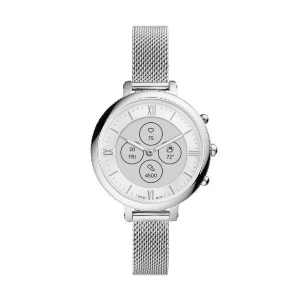 Smartwatch zegarek hybrydowy fossil srebrny ftw7040