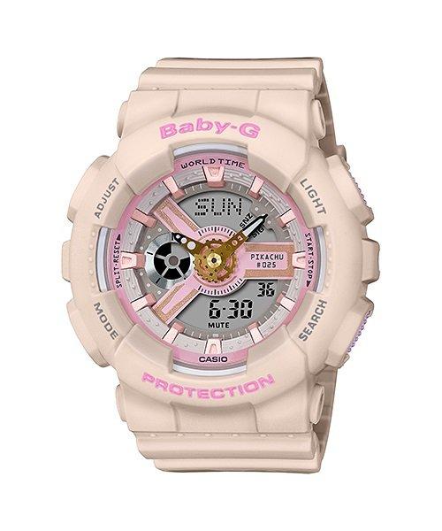 Zegarek casio pikatchu baby g r%c3%b3zowy edycja limitowana ba 110pkc 4a