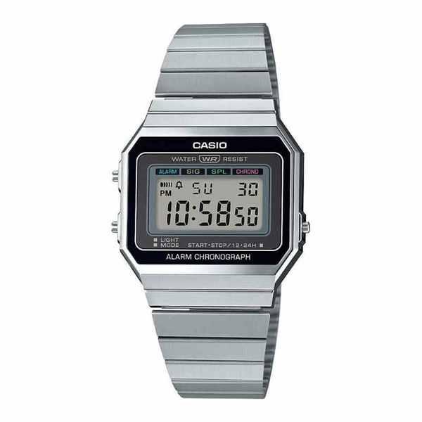 Zegarek casio retro srebrny na bransolecie w stylu vintage a700we 1aef