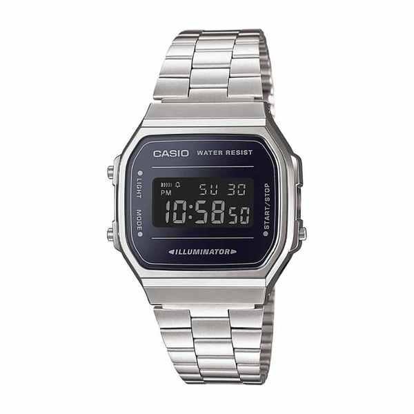 Zegarek casio retro srebrny wiekszy m%c4%99ski a168wem 1ef