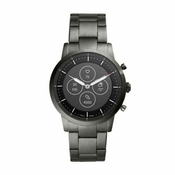 Smartwatch hybrydowy fossil na bransolecie ftw7009 stalowy grafitowy wskaz%c3%b3wki i wy%c5%9bwietlacz