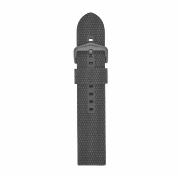 Czarny pasek do smartwatcha fossil silikonowy z faktur%c4%85 i czarn%c4%85 sprz%c4%85czk%c4%85 s221430