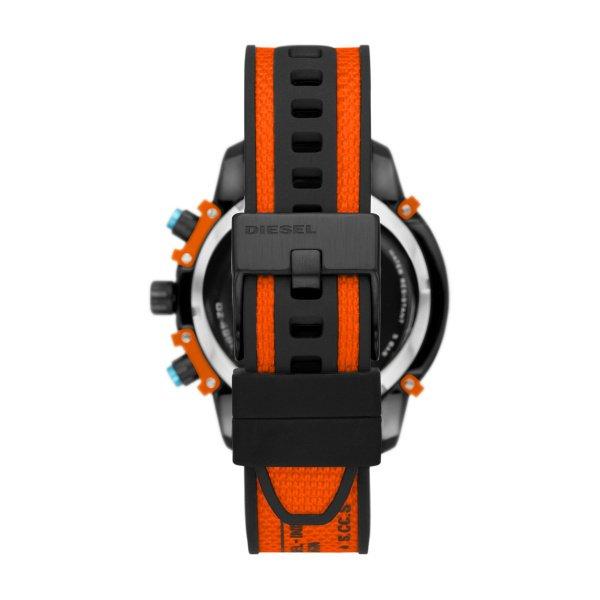 Zegarek m%c4%99ski diesel  dz4562 z pomara%c5%84czowym paskiem i czarn%c4%85 tarcz%c4%85 griffed