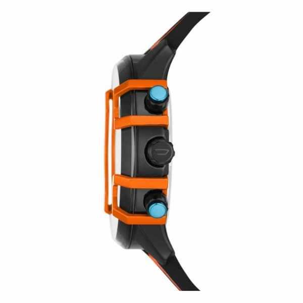 Dz4562 zegarek m%c4%99ski diesel pomara%c5%84czowy pasek czarna tarcza griffed