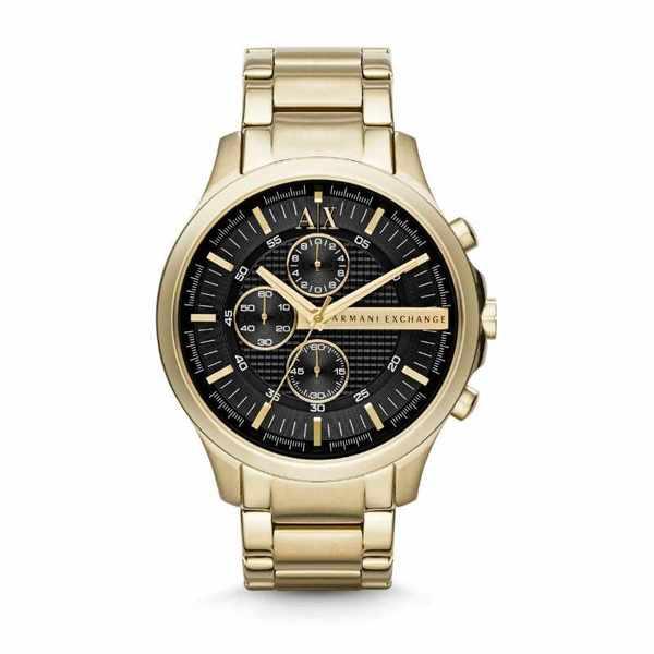 Ax2137 zegarek armani exchange z%c5%82oty z czarn%c4%85 tarcz%c4%85