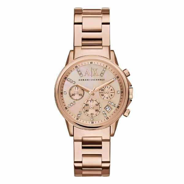Ax4326 zegarek damski armani exchange lady banks r%c3%b3zowe z%c5%82oto