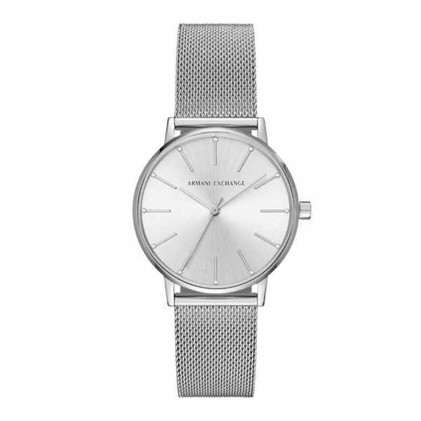 Srebrny minimalistyczny zegarek damski na bransolecie ax5535