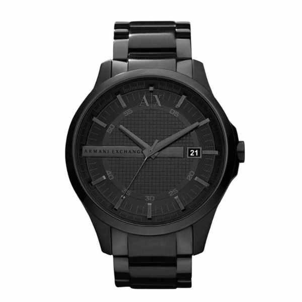 Ax2104 czarny zegarek armani exchange na bransolecie