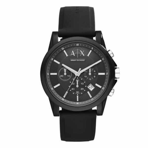 Ax1326 zegarek armani exchange czarny na silikonowym pasku orygina%c5%82