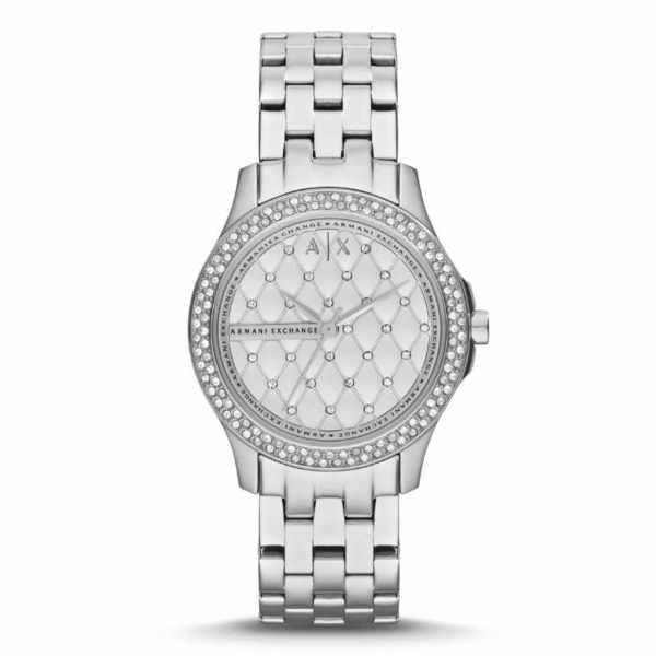 Ax5215 lady hampton srebrny zegarek damski armani exchange