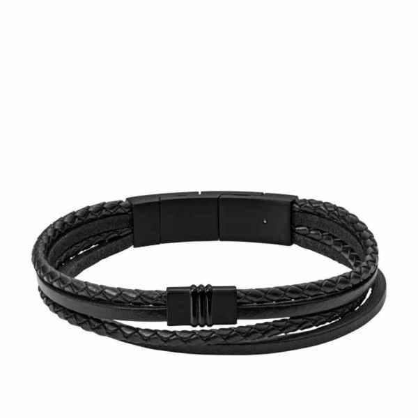 Branzoleta m%c4%98ska jf03098001 fossil vintage casual black czarna dla m%c4%98%c5%bbczyzn styl w modzie casual autoryzowany sklep na idealny prezent